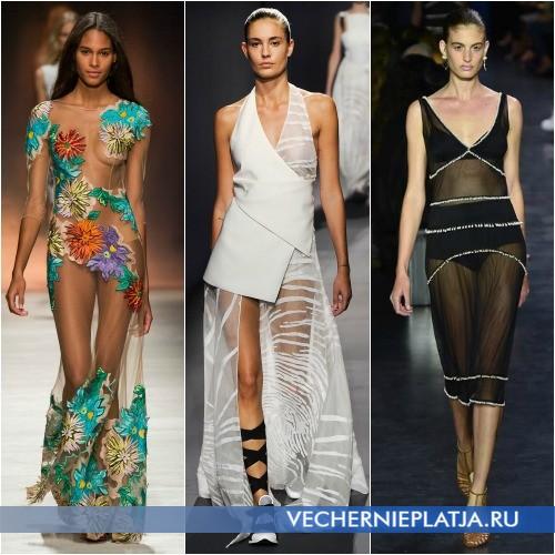 Прозрачные платья 2015 фото