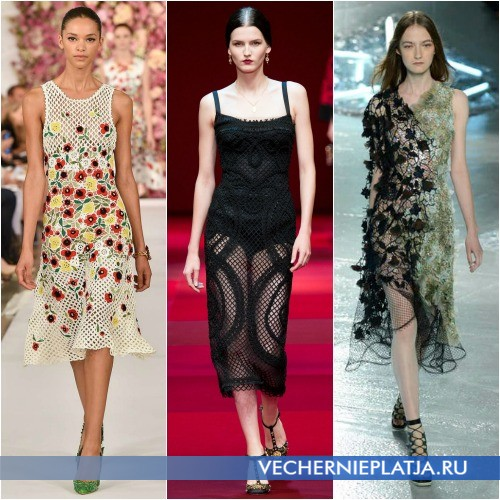 Модные платья Весна-Лето 2015 из сетки