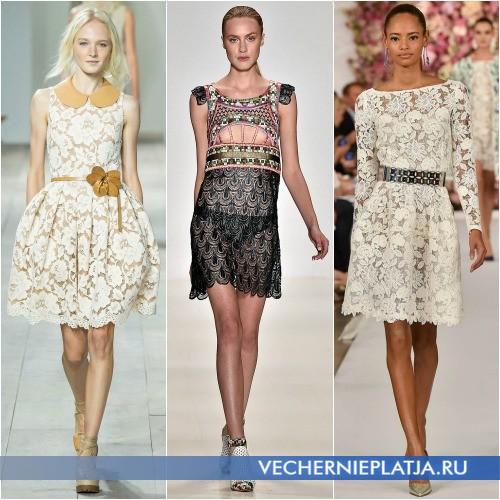 Кружевные платья Весна-Лето 2015