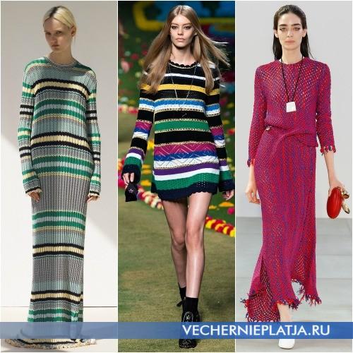 Модные платья вязаные 2015