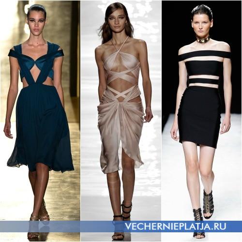 Платья 2015 с вырезами