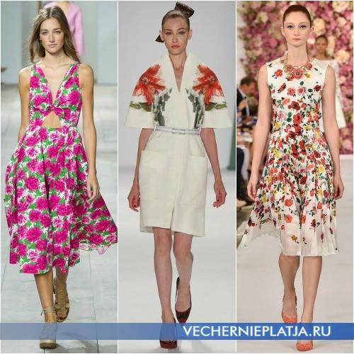 Платья в цветочек 2015