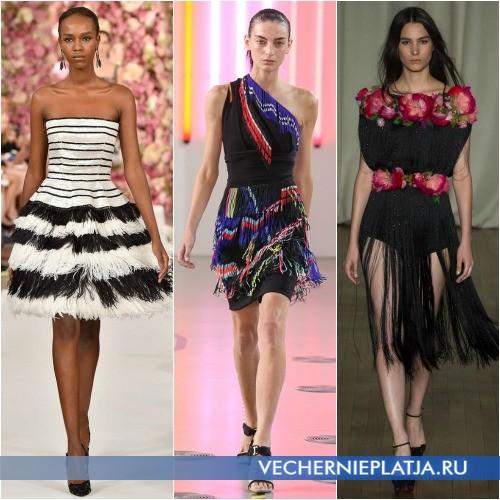 Модные платья с бахромой Весна-Лето 2015 фото