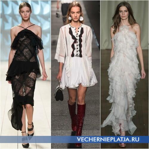 Модные платья 2015 с воланами