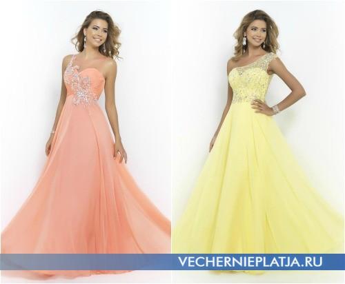 Красивые длинные пышные выпускные платья