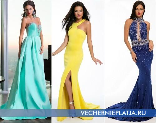 Модный цвет выпускного платья 2015 года для девушек
