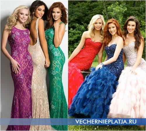 Как подобрать удачный цвет платья на выпускной 2015 фото