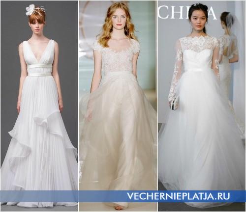 Романтические свадебные платья 2015 года