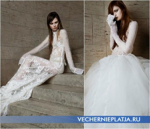 Прозрачные платья в весенне-летней свадебной коллекции 2015