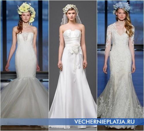 Мода на свадебные платья и аксессуары 2015 фото