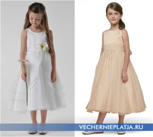Платья А-силуэта для девочек на выпускной в детский сад