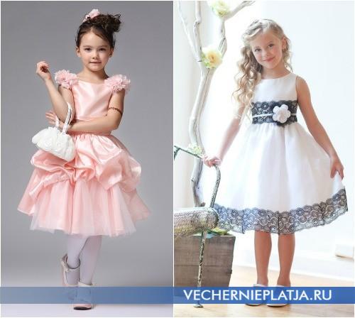Красивое выпускное платье для детского сада средней длины