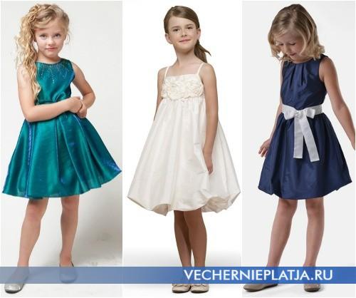 Детские короткие платья на выпускной в садик