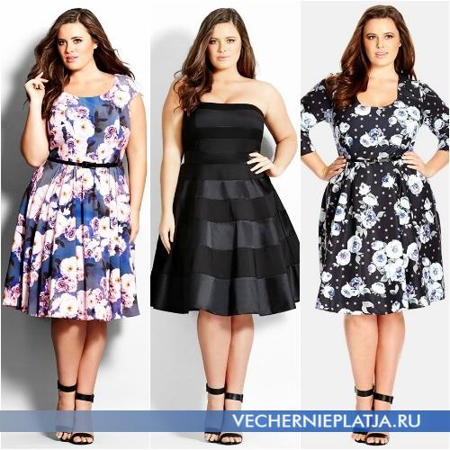 Платья летние короткие для полных фото