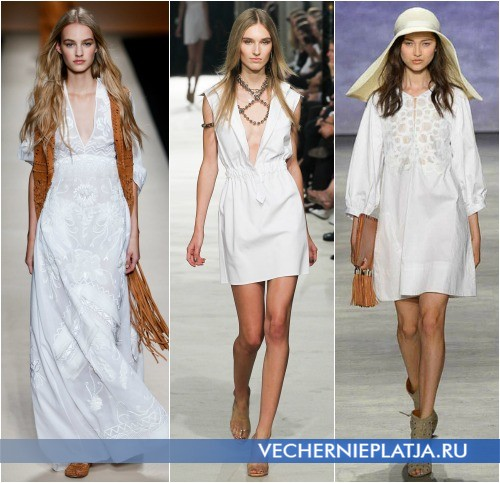 Хлопковые белые летние платья 2015 фото
