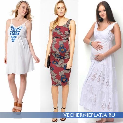 Модные летние сарафаны из хлопка для беременных