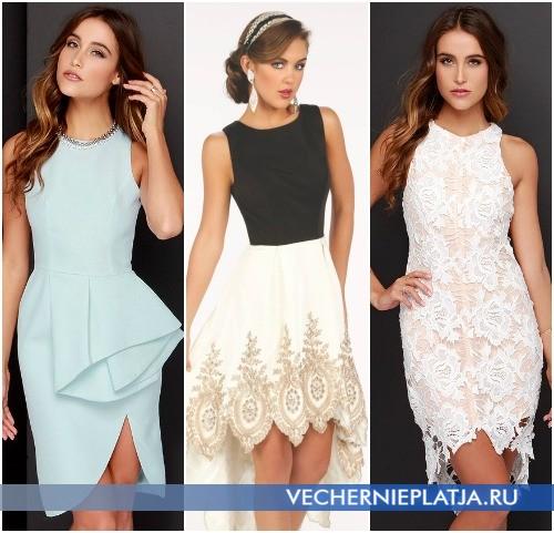 Асимметричные платья для выпускного вечера 2016 фото