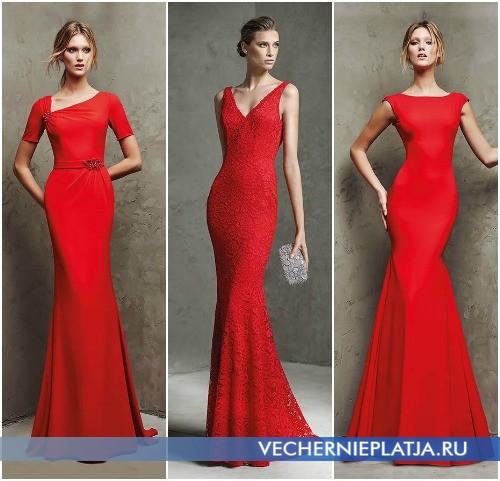 Длинные красные выпускные платья годе: новинки 2016 года
