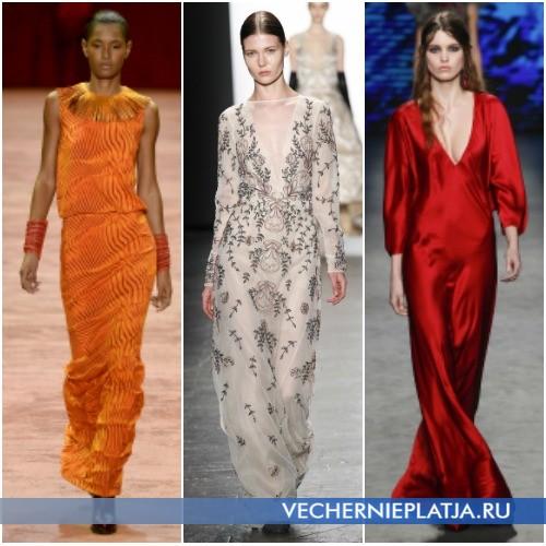 Модные фасоны платьев в стиле 70-х в коллекциях Осень-Зима 2016-2017