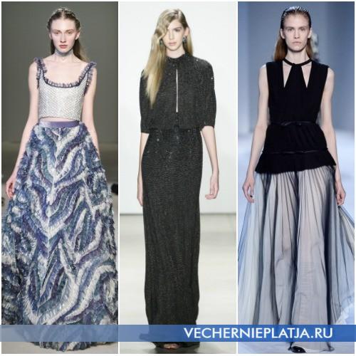 Длинные платья с топом 2016-2017 фото
