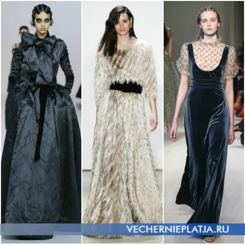 Вечерние платья в пол из плотных тканей 2016-2017