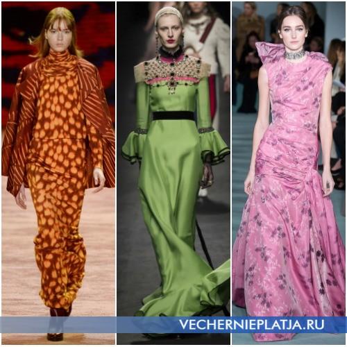 Интересные цвета вечерних платьев 2016-2017 фото