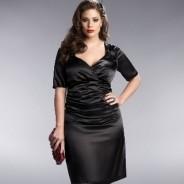 Черное платье для полных – правильный выбор
