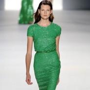 Зеленые платья – красота холодного цвета