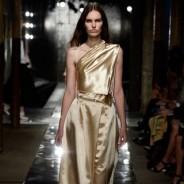 Золотистые платья: роскошь жидкого металла в модном тренде весны 2014 года