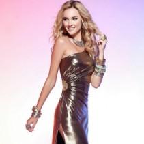 Золотое платье – шикарный праздничный наряд